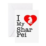 I Love My Shar Pei Greeting Cards (Pk of 10)