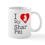 I Love My Shar Pei Mug