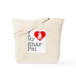 I Love My Shar Pei Tote Bag