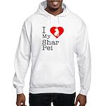 I Love My Shar Pei Hooded Sweatshirt