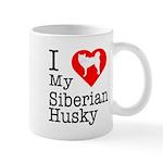 I Love My Siberian Husky Mug