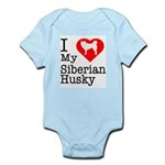 I Love My Siberian Husky Infant Bodysuit