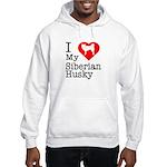 I Love My Siberian Husky Hooded Sweatshirt