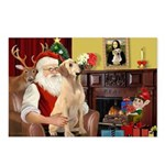 Santa's Lab (Y-lap) Postcards (Package of 8)