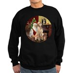 Santa's Lab (Y-lap) Sweatshirt (dark)