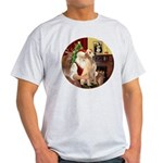 Santa's Lab (Y-lap) Light T-Shirt