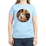 Santa's Lab (Y-lap) Women's Light T-Shirt