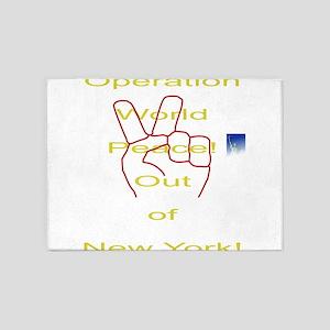 Operation world peace 5'x7'Area Rug