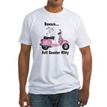 Evil Kitty PINK Fitted T-Shirt