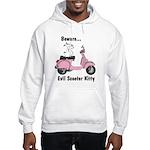 Evil Kitty PINK Hooded Sweatshirt