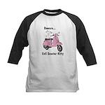 Evil Kitty PINK Kids Baseball Jersey