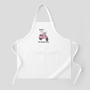 Evil Kitty PINK BBQ Apron