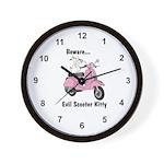 Evil Kitty PINK Wall Clock