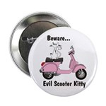 Evil Kitty PINK Button