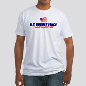 US Border Fence Fitted T-Shirt