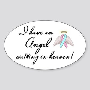 Angel Waiting Sticker (Oval)