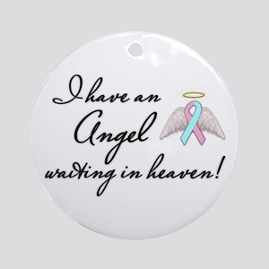 Angel Waiting Ornament (Round)