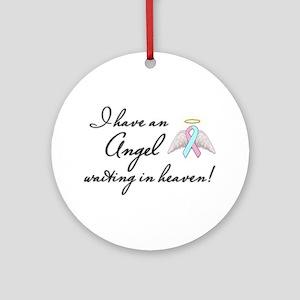 Angel Waiting Ornament (Round)