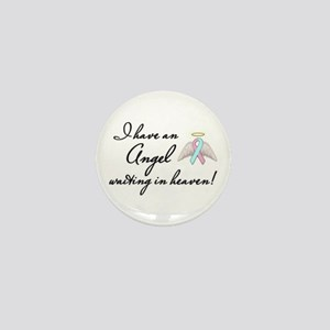 Angel Waiting Mini Button