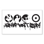 Hip-hop don't stop !! Sticker (Rectangle)