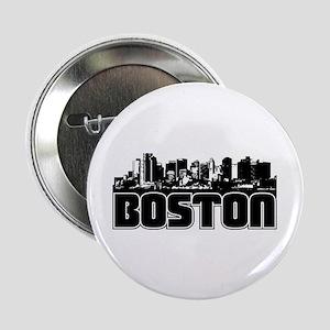 """Boston Skyline 2.25"""" Button"""