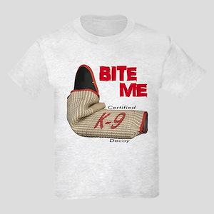 BITE ME Certified K-9 Decoy Kids Light T-Shirt