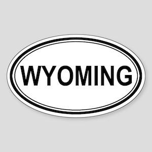 Wyoming Euro Oval Sticker