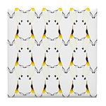Dancing King Penguin Tile Coaster