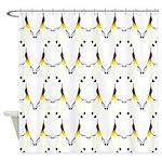 Dancing King Penguin Shower Curtain