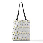 Dancing King Penguin Polyester Tote Bag