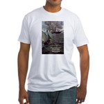 Manet Painting Color Quote Fitted T-Shirt