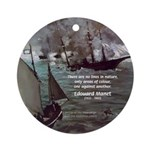 Manet Painting Color Quote Ornament (Round)