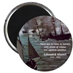 Manet Painting Color Quote Magnet