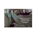 Manet Painting Color Quote Rectangle Magnet (10 pa