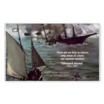 Manet Painting Color Quote Rectangle Sticker