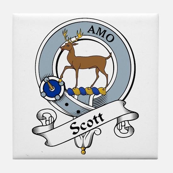 Scott Clan Badge Tile Coaster