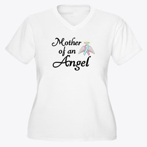 Mother of an Angel Women's Plus Size V-Neck T-Shir
