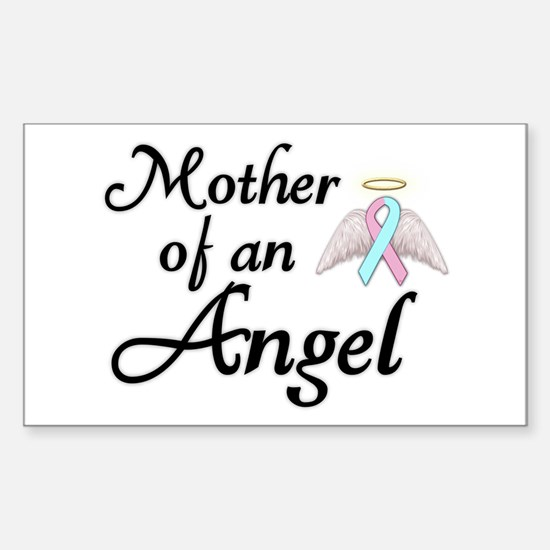 Mother of an Angel Sticker (Rectangle)