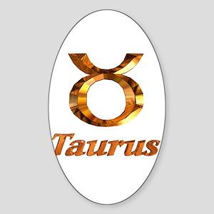 Taurus Zodiac Gifts Oval Sticker