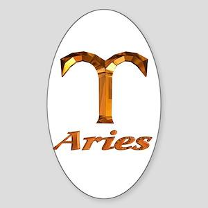 Aries Zodiac Gifts Oval Sticker