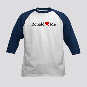 Ronald Loves Me Kids Baseball Jersey