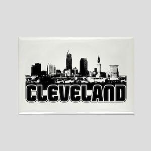 Cleveland Skyline Rectangle Magnet