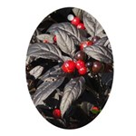 Black Pearl Peppers Oval Ornament