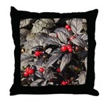 Black Pearl Peppers Throw Pillow
