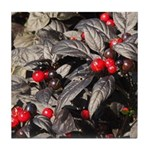 Black Pearl Peppers Tile Coaster