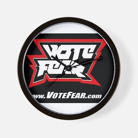 Vote Fear Wall Clock