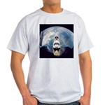 Earth and the space shuttle Ash Grey T-Shirt