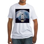 Earth and the space shuttle Fitted T-Shirt