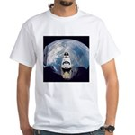Earth and the space shuttle White T-Shirt