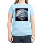 Earth and the space shuttle Women's Pink T-Shirt